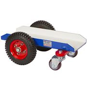4 Wheel Giant Dolly - White Rubber