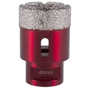 M14 Thread  Vacuum Core Drill (Transparent Red) 40mm