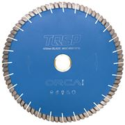 EDIA Professional Blue Orca 400mm Sandwich Saw Blade for Granite / Engineered 60mm Bore
